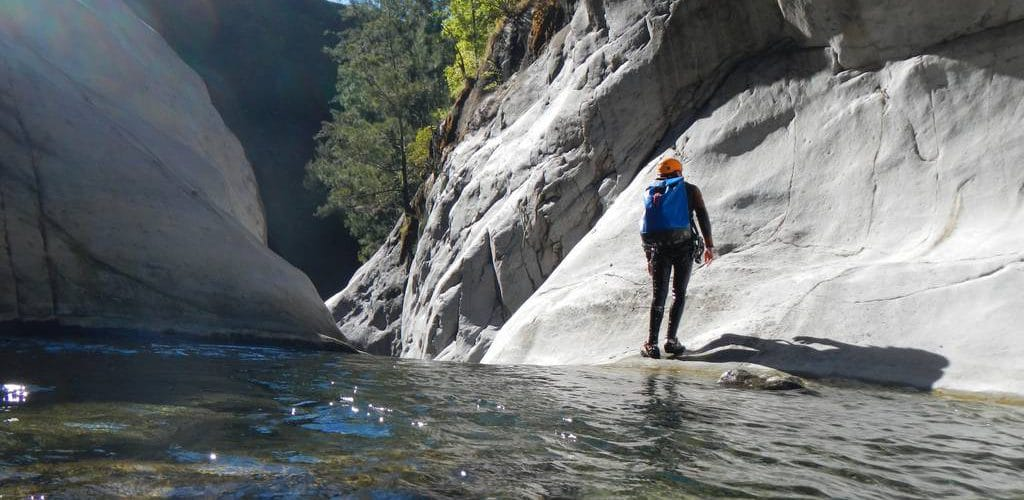 Into the wild of Trou blanc canyon, Reunion island, with an ADVENTURES REUNION canyoning guide