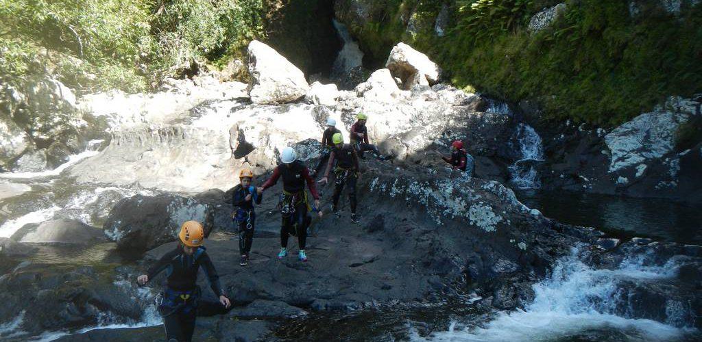 Canyoning en famille au canyon de Sainte Suzanne ou Bassin Bœuf à la REUNION