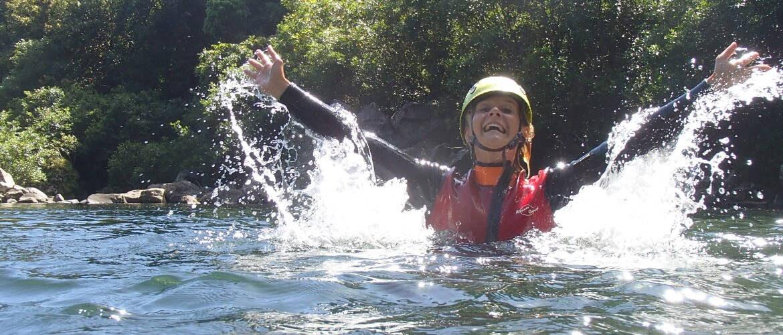 Barranquismo en el barranco de Riviere des Roches isla REUNION